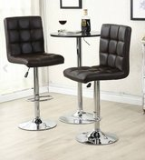 3 piece set- leather hydraulic swivel barstools with table in Quantico, Virginia