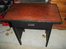 PRIMITIVE  BLACK HARDWOOD TABLE OR DESK in Tinley Park, Illinois