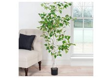 Pure Garden Indoor Outdoor Fake Artificial 5 Foot Birch Tree - New! in Shorewood, Illinois