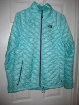 ~WOMANS NORTH FACE THERMOBALL JACKET / COAT AQUA/TEAL ~ in Morris, Illinois