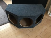 """3 hole 12"""" Empty Woofer Box-Charcoal Colored Carpet in Plainfield, Illinois"""