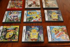 Nine (9) Nintendo DS Games Cases and Instruction Only in Spring, Texas