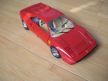 burago 1984 ferrari gto burago red 1:24 scale die cast metal model italy car in Naperville, Illinois