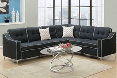 New Black Linen and White Trim Sectional FREE DELIVERY in Camp Pendleton, California