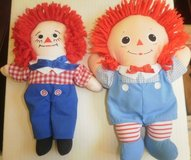 set of 2 raggedy andy dolls by johnny gruelle applause 1991 hasbro 2000 in Glendale Heights, Illinois