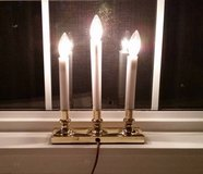 (5) BRASS BASED 3 CANDLE ELECTRIC CANDELABRAS - Like New. In the box. in MacDill AFB, FL