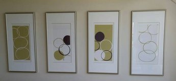 "4 BRUSHED STEEL FRAMED 17""x 34"" PISTACHIO PRINTS I, II, III & IV in Saint Petersburg, Florida"