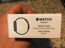 apple watch series 1 38mm aluminum case black sport band - (mp022ll/a) in Sugar Grove, Illinois