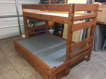 Solid wood twin over full bunk bed in Joliet, Illinois