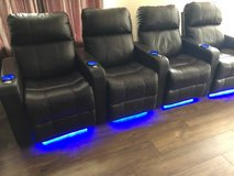 4 Leather Theater Chairs in Wheaton, Illinois