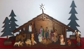 LARGE ~3ft Nativity Set -  light in crèche / manger in Wheaton, Illinois