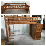 Honey Pine Twin Loft Bed(American Signature) + Day Bed in Naperville, Illinois