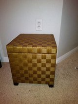Woven Footed Storage Box with Lid in Roseville, California