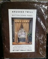 """New 42""""x 63"""" Chocolate Button Down 1 Curtain Panel w/ tie back. $6. in Fort Carson, Colorado"""