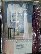 """New 59"""" x 216"""" Burgundy Sheer Curtain Scarf. Brand New Package $6. in Fort Carson, Colorado"""