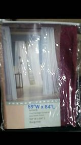 """New 59"""" x 84"""" Burgundy Sheer Panel Curtain. 3 new packs. $6.00 ea in Fort Carson, Colorado"""