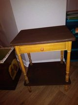Side Table Drawer whatnot shelf Vintage antique look Entry Way table in Roseville, California