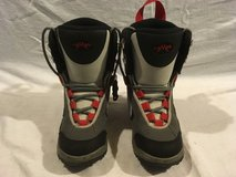 childrens youth lamar delta linerless junior 3 gray black red snowboard boots  02225 in Huntington Beach, California