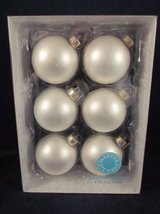 MARTHA STEWART Christmas Ornaments Set of 6 ~ NEW in BOX in Chicago, Illinois