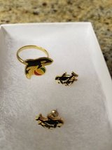 Sea World new Shamu adjustable ring and post earrings in Camp Pendleton, California