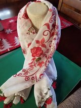 Beautiful crocheted edge scarf/head covering from Turkey in Temecula, California