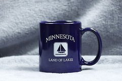 blue minnesota coffee mug snowflake funny tea cocoa cup in Kingwood, Texas