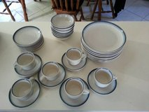 Coffee cups. saucers, desert plates, plates set Used in Naperville, Illinois
