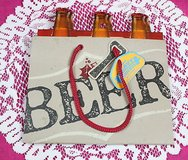 heavy weights 6-pack gift bag wrap your beer present heavy duty carrier in Kingwood, Texas
