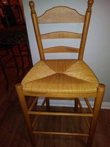 Maple Wood Bar Stool with Old Fashioned Style Wicker Seat in Sacramento, California