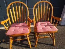 2 Classic Windsor Style Arm Chair with removable pads in Roseville, California