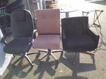 3 rolling office chairs in Fairfield, California