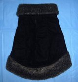 Small Pet / Dog Coat Sz Med - Faux Fur Trim Quilted Clothing in Joliet, Illinois