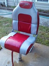Red and Gray Boat Seat w/Post in Warner Robins, Georgia
