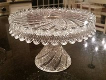 Cake Pedestal / Plate - Clear Crystal - Ornate in Chicago, Illinois