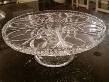 Cake Plates - Clear Glass - Large Diameter in Orland Park, Illinois