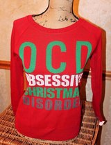NWT - OCD -- Obsessive Christmas Disorder -- Ugly Christmas Sweater, Red, X-Small in Aurora, Illinois