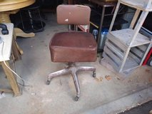 Vintage Industrial King Posture Office Chair Steampunk Brown in Sacramento, California