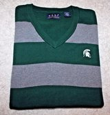 Michigan State Spartans Sleeveless Vest, Green/Gray Stripe, Men's Medium in Aurora, Illinois