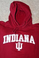 Indiana Hoosiers Crimson Red Hoodie, Appliqued Letters, Cotton/Poly, X-Large in Westmont, Illinois