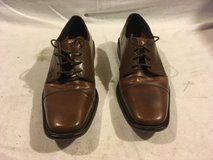 mens bostonian authentic brown leather lace up 9d formal dress cap toe shoes 02282 in Huntington Beach, California