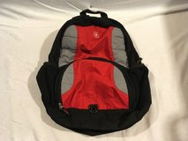 adults swiss gear black red gray 16 x 19 multi pocketed zipper closed backpack  02084 in Huntington Beach, California