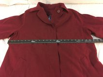womens london fog limited edition 14 r maroon zip in liner button front overcoat  01929 in Huntington Beach, California