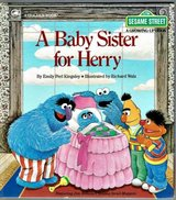 RARE Vintage 1984 Sesame Street A Baby Sitter for Herry A Golden Book Hard Cover in Morris, Illinois