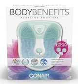 New! Conair Body Benefits Foot / Pedicure Massaging Bubbling Spa in Joliet, Illinois