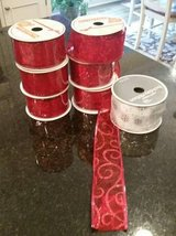 Ribbon - Christmas / Holiday New Rolls   wired edges in Glendale Heights, Illinois
