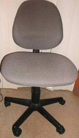 Five-Footed Office Chair. Excellent Comfy Gray Upholstery. in Conroe, Texas
