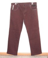 Parish BRICK RED Button Fly Classic Straight Leg Jeans Tag 40 Measures 38x32 in Joliet, Illinois