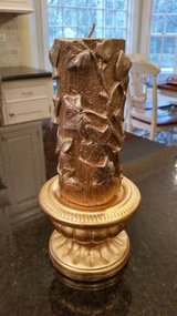 Candle and Holder - Gold Leaf Pattern in Chicago, Illinois