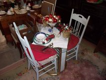 Glass Top Round Table and Two Chairs in Fort Riley, Kansas