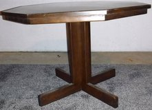 Wood Octagon Dining / Kitchen Pedestal Table ~ Project Piece in Joliet, Illinois